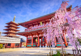 Spring! Cheap flights from Switzerland to Tokyo, Japan for only €384!