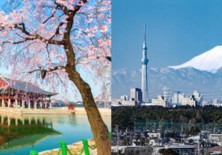 May & June! Cheap flights from London to Tokyo or Seoul from £374!