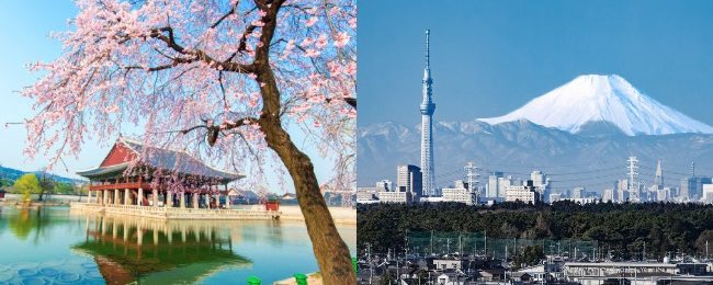 Cheap spring and summer flights from London to Tokyo, Japan or Seoul, South Korea from £355!