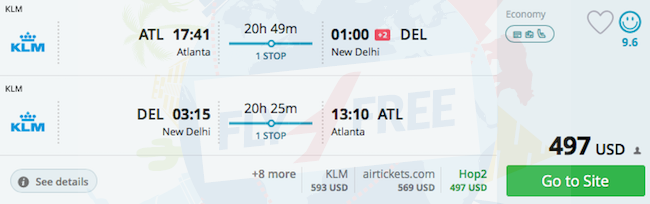 flight deals from atlanta to india