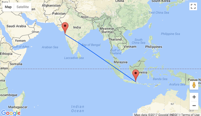 5* Singapore Airlines flights from Mumbai to East Java for $340!
