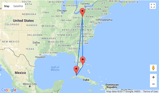 High Season Pittsburgh To Both Florida And Cuba For Just