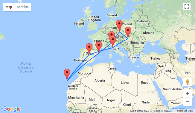 6 in 1: Prague to Milan, Barcelona, Tenerife, Madrid, Tuscany and ...