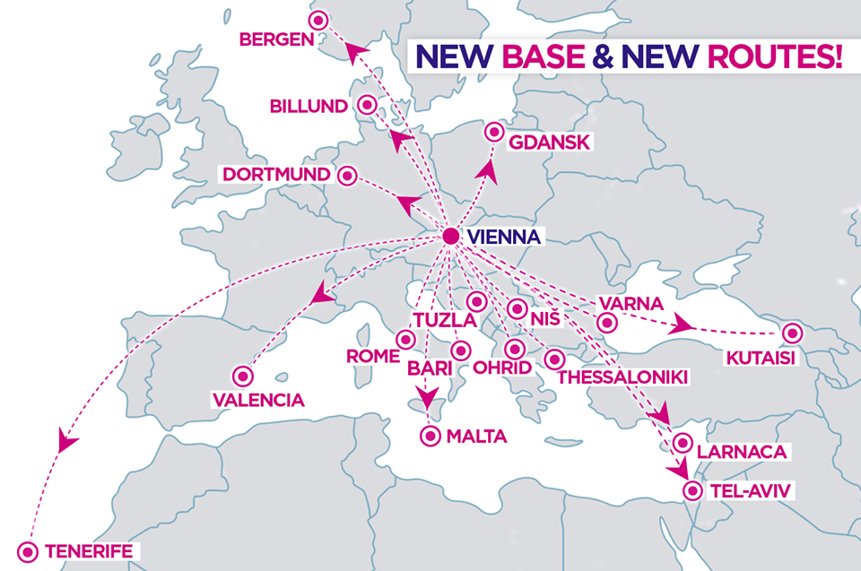 Wizzair To Fly From Austria 17 Routes From Vienna Announced
