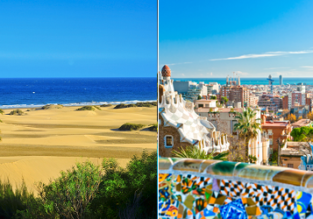 Discover Spain! Gran Canaria, Barcelona, Palma de Mallorca, Madrid, Ibiza and Malaga in one trip from London for £39!