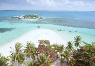 Cheap flights from Jakarta to the exotic Banga – Belitung Islands from only $43 incl. checked bag!