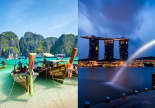 Cheap! Air France flights from French cities to Thailand and Singapore from €298!