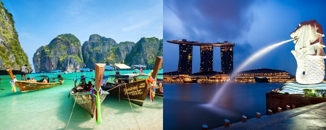 Cheap flights from New York to Singapore or Malaysia, returning from Thailand or Cambodia from $425!