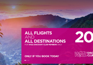 Wizzair Sale: 20% off on all routes! (members only)
