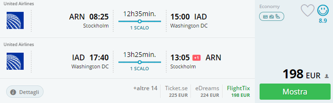 Hot Cheap Flights From Stockholm To Washington For Just 198