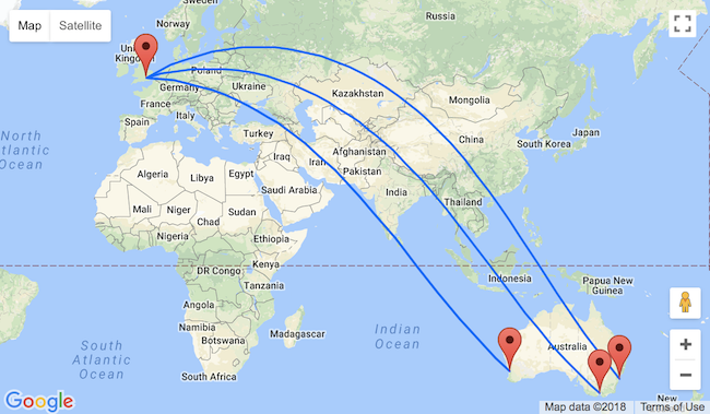5* Garuda: Sydney, Perth or Melbourne to London, UK from only AU$944!