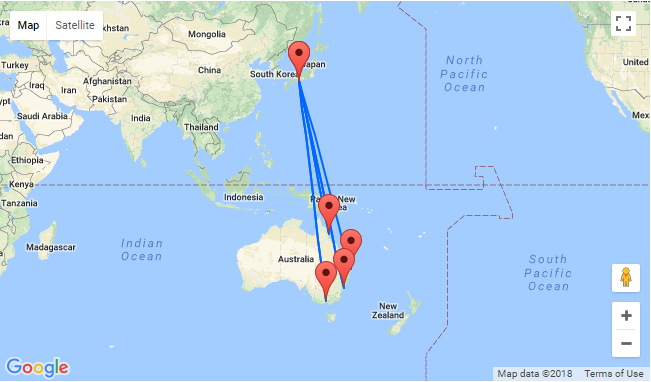 Map Of Australia Japan.Hot Non Stop From Australia To Japan For Only Au 299