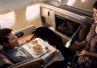 5* Singapore Airlines: Business Class from Osaka to Singapore for only $726!