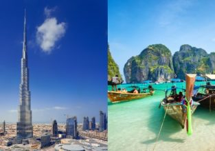 EMIRATES! Dubai and Phuket in one trip from Budapest for €428!