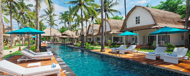 B&B stay at 5* Oceano Jambuluwuk Resort in exotic Gili Islands for only €30! (€15/ £13 pp)