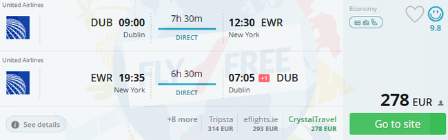 Cheap Direct Flights From Dublin To East Coast Us From Just 272