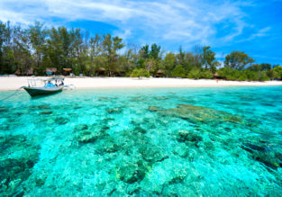 B&B stay at top-rated 4* resort in exotic Gili Islands for only €31! (€15.5/ £13 pp)