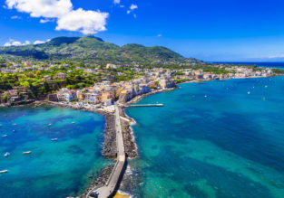 Half Board 7-night Ischia Island getaway! Top rated beach hotel & spa + flights from the UK from £215!