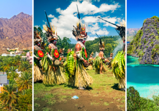Philippines, Oman and mega exotic Papua New Guinea in one trip from Zurich for €589!