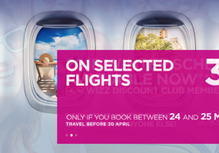 Wizz Air sale: 30% off on selected routes!