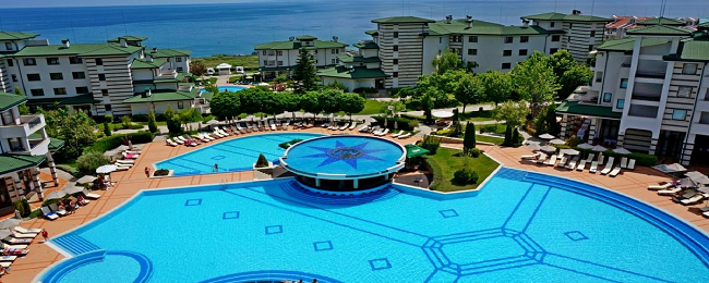 Studio at top rated 5* beach resort & spa in Sunny Coast, Bulgaria for only €20! (€10/ £9 per person)