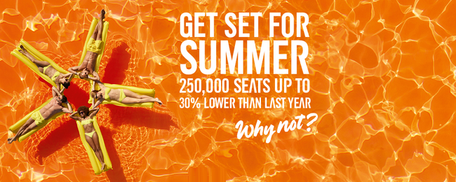 EasyJet sale: up to 30% lower price! Flights from only €7 / £6 one-way!