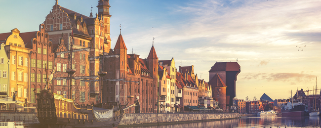 Cheap flights from Aarhus, Denmark to Gdansk, Poland and vice versa for just €3 each way!