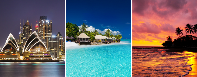 Exotic! Geneva to Sydney, Fiji, Samoa, Hawaii & Melbourne in one trip for €1159!