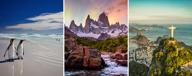 X-MAS & NEW YEAR: Italy to Falklands, Patagonia, Santiago & Rio de Janeiro in one trip for €1058!