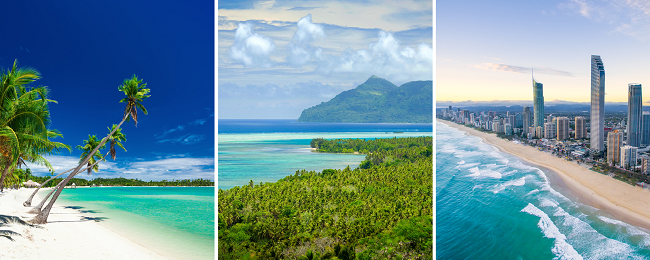 Exotic 4 in 1: Berlin to Singapore, Fiji, Vanuatu and Australia in one trip for only €755!