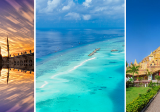 3 in 1: London to Addu Atoll (southern extreme of Maldives), Mumbai and Istanbul in one trip for £443!
