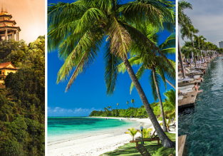 3 in 1: Budapest to Penang Island, Singapore and Fiji in one trip for €744!