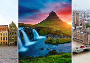 3 in 1: Poznan, Iceland and London in one trip from Germany from only €58!