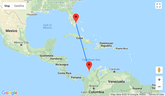 August! Non-stop flights from Florida to Cartagena, Colombia for just $252!
