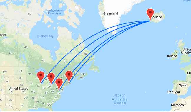 PEAK SUMMER! Cheap flights from US East Coast to Iceland from just $230!