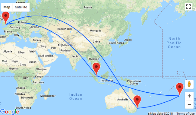 5* Singapore Airlines flights from London to mega exotic Cook Islands for £742! 2 in 1 with Sydney, Australia for £858!