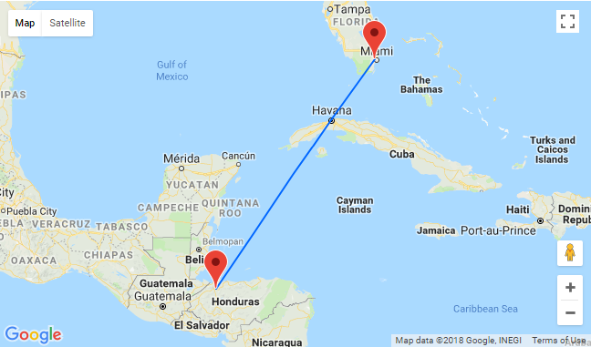 Non-stop flights from Miami to Honduras for $254 one way! Return ticket for just $266!