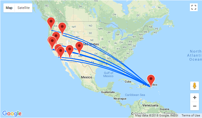 High season flights from US West Coast to San Juan, Puerto Rico from only $219!