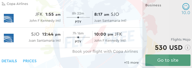 Business Class Flights From New York To Costa Rica From