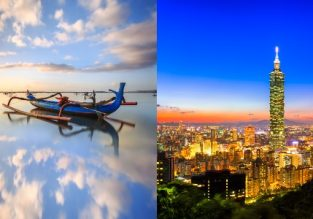 Bali and Taipei in one trip from Paris from €505!
