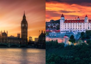 Cheap flights from Bratislava to London and vice-versa from only €8/£9!