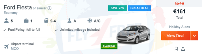 Cheapest Car Hire Mco