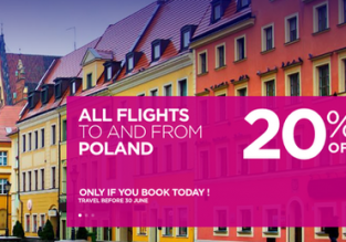 SUMMER: Cheap Wizz Air flights to Poland with 20% discount!