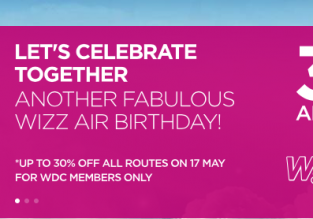 Wizzair Sale: 30% off on all routes! (members only)