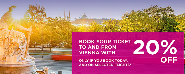 Wizz Air SALE! 20% off for flights from and to Vienna! Open to everyone!