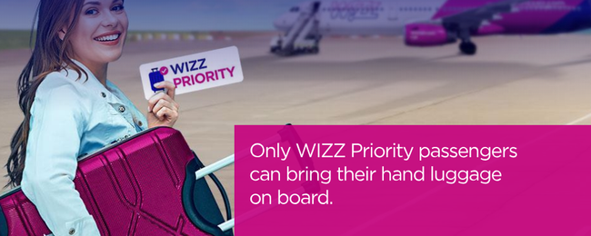 Wizz Air: Hand luggage policy changes for passengers without Wizz Priority!