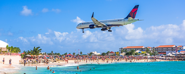 Cheap flights from the US to St. Maarten from only $177!