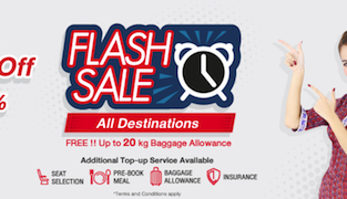 Thai Lion Air Flash SALE! All routes up to 40% off and checked bag included!