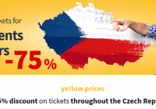 75% off on RegioJet tickets for kids, students and seniors in Czech Republic!