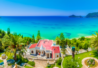 June! 7-night Corfu holiday with top-rated seaview aparthotel + flights from Bratislava for €115!